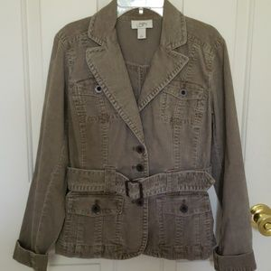 Ann Taylor LOFT Belted Corduroy Jacket